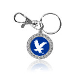 Crystal Studded Round Key Chain-Eagle