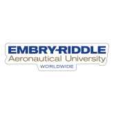 Large Decal-Embry Riddle Worldwide, 12 inches wide
