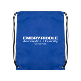 Royal Drawstring Backpack-Embry Riddle Worldwide