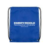 Royal Drawstring Backpack-Embry Riddle Worldwide