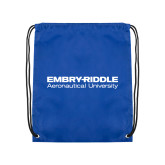 Royal Drawstring Backpack-Embry Riddle Aeronautical University