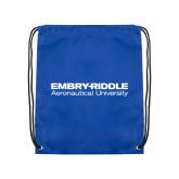 Royal Drawstring Backpack-Embry Riddle Aeronautical University