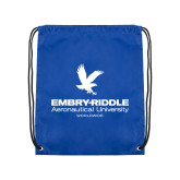 Royal Drawstring Backpack-Worldwide Stacked w/ Eagle