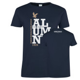 Ladies Navy T Shirt-ERW Alumni