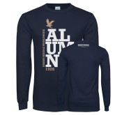 Navy Long Sleeve T Shirt-ERW Alumni