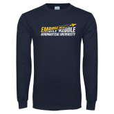 Navy Long Sleeve T Shirt-Aeronautical design