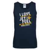 Navy Tank Top-I Love The Smell of Jet Fuel In The Morning