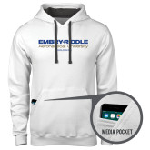 Contemporary Sofspun White Hoodie-Embry Riddle Worldwide