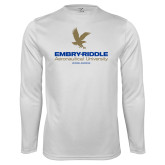 Syntrel Performance White Longsleeve Shirt-Worldwide Stacked w/ Eagle