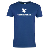 Ladies Royal T Shirt-Worldwide Stacked w/ Eagle