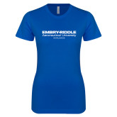 Next Level Ladies SoftStyle Junior Fitted Royal Tee-Embry Riddle Worldwide