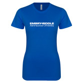 Next Level Ladies SoftStyle Junior Fitted Royal Tee-Embry Riddle Aeronautical University