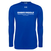 Under Armour Royal Long Sleeve Tech Tee-Embry Riddle Worldwide