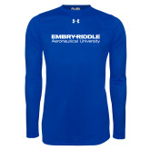 Under Armour Royal Long Sleeve Tech Tee-Embry Riddle Aeronautical University