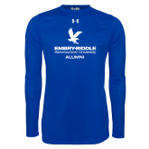 Under Armour Royal Long Sleeve Tech Tee-Alumni