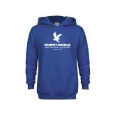Youth Royal Fleece Hoodie-Worldwide Stacked w/ Eagle