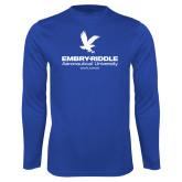 Syntrel Performance Royal Longsleeve Shirt-Worldwide Stacked w/ Eagle