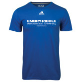 Adidas Climalite Royal Ultimate Performance Tee-Embry Riddle Worldwide