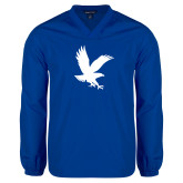 V Neck Royal Raglan Windshirt-Eagle