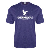 Performance Royal Heather Contender Tee-Worldwide Stacked w/ Eagle
