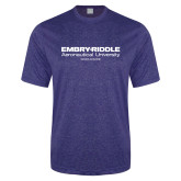 Performance Royal Heather Contender Tee-Embry Riddle Worldwide