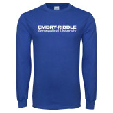 Royal Long Sleeve T Shirt-Embry Riddle Aeronautical University