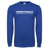 Royal Long Sleeve T Shirt-Embry Riddle Aeronautical University