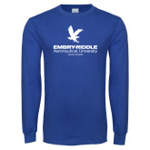 Royal Long Sleeve T Shirt-Worldwide Stacked w/ Eagle