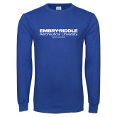 Royal Long Sleeve T Shirt-Embry Riddle Worldwide