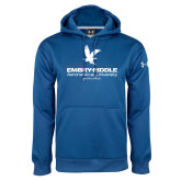 Under Armour Royal Performance Sweats Team Hoodie-Worldwide Stacked w/ Eagle Distressed