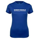 Ladies Syntrel Performance Royal Tee-Embry Riddle Aeronautical University