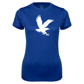 Ladies Syntrel Performance Royal Tee-Eagle