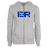 ENZA Ladies Grey Fleece Full Zip Hoodie-ER