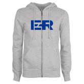ENZA Ladies Grey Fleece Full Zip Hoodie-ER