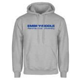 Grey Fleece Hoodie-Embry Riddle Aeronautical University
