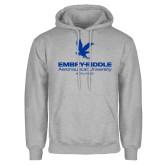 Grey Fleece Hoodie-Worldwide Stacked w/ Eagle