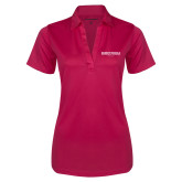 Ladies Pink Raspberry Silk Touch Performance Polo-