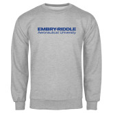Grey Fleece Crew-Embry Riddle Aeronautical University