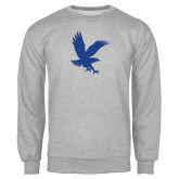 Grey Fleece Crew-Eagle