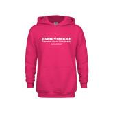 Youth Raspberry Fleece Hoodie-Embry Riddle Worldwide