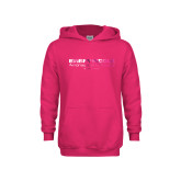 Youth Raspberry Fleece Hoodie-Embry Riddle Worldwide  Foil