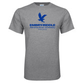 Grey T Shirt-Worldwide Stacked w/ Eagle