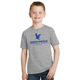Youth Grey T Shirt-Worldwide Stacked w/ Eagle Distressed