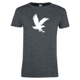 Ladies Dark Heather T Shirt-Eagle