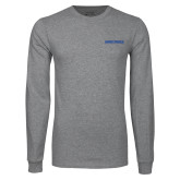 Grey Long Sleeve T Shirt-Embry Riddle Aeronautical University