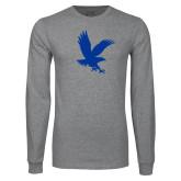 Grey Long Sleeve T Shirt-Eagle