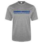 Performance Grey Heather Contender Tee-Embry Riddle Aeronautical University