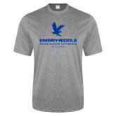 Performance Grey Heather Contender Tee-Worldwide Stacked w/ Eagle