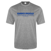 Performance Grey Heather Contender Tee-Embry Riddle Worldwide