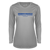 Ladies Syntrel Performance Platinum Longsleeve Shirt-Embry Riddle Worldwide